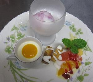 コース料理のデザート