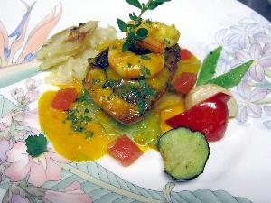 ランチの真鯛料理