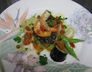 コショウ鯛の料理