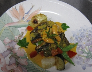 イサキと小海老の料理