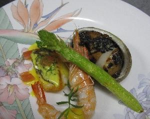 レストラン大澤・二皿目の料理