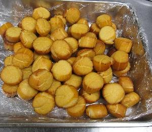 レストラン大澤・帆立貝の冷燻製