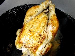 雛地鶏のローストチキン