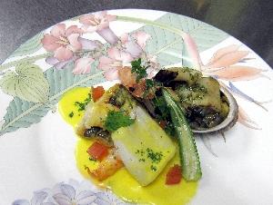 魚介類4種の料理